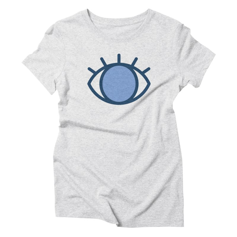 Blue Eyes Pattern Women's Triblend T-Shirt by abstractocreate's Artist Shop