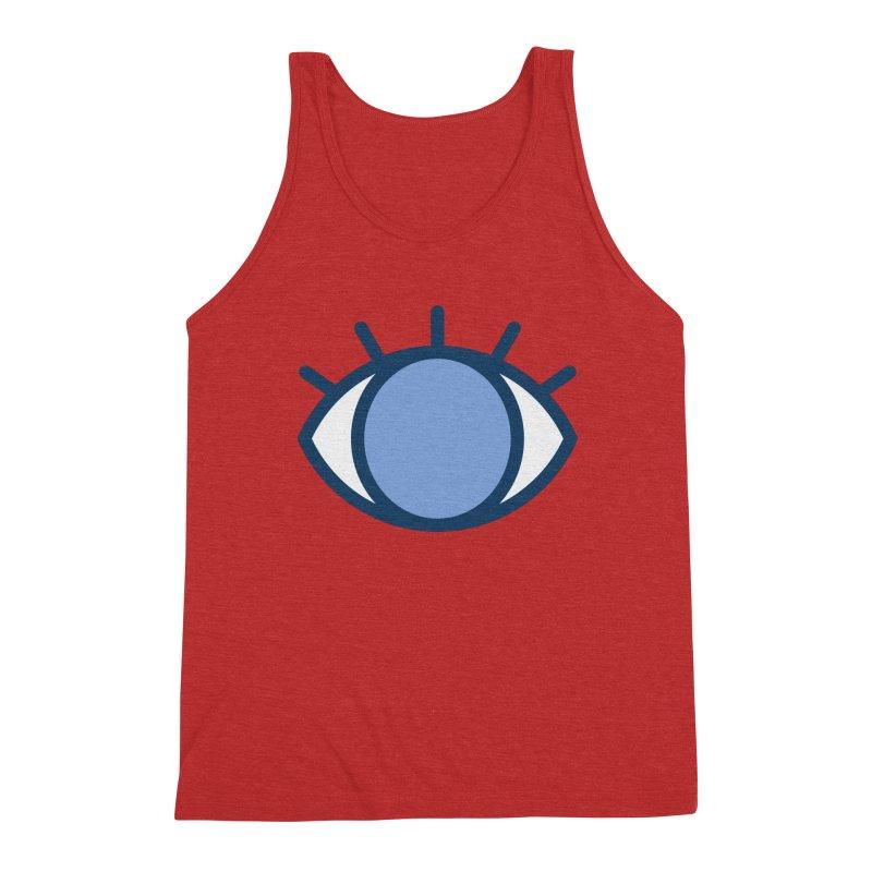 Blue Eyes Pattern Men's Triblend Tank by abstractocreate's Artist Shop