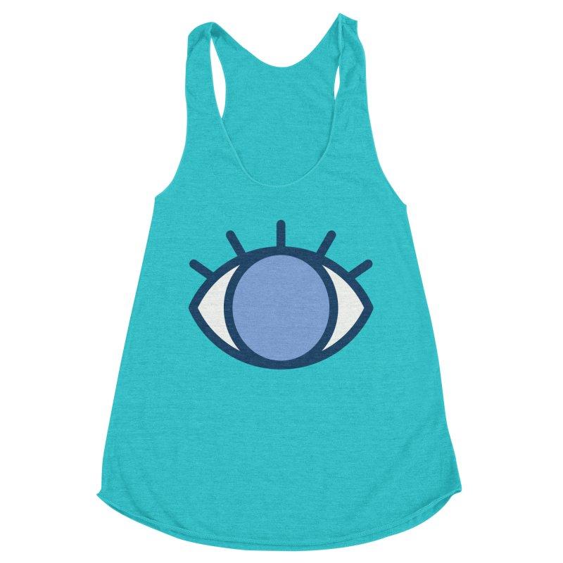 Blue Eyes Pattern Women's Racerback Triblend Tank by abstractocreate's Artist Shop