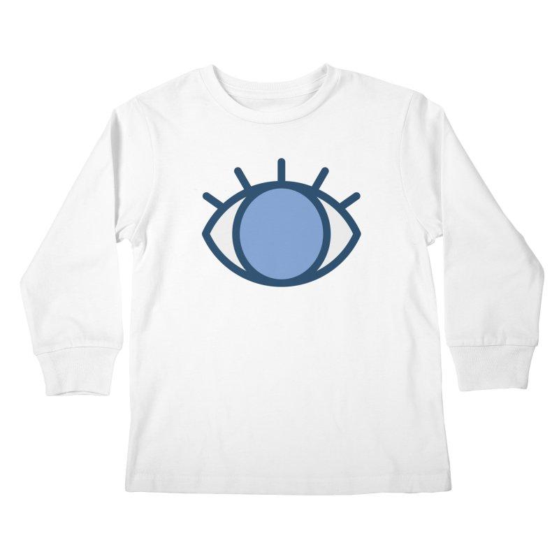 Blue Eyes Pattern Kids Longsleeve T-Shirt by abstractocreate's Artist Shop