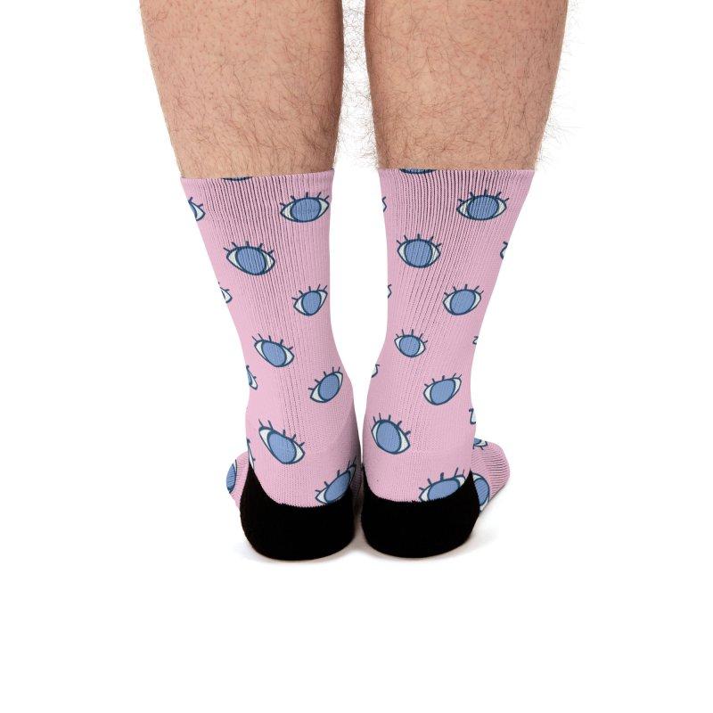 Blue Eyes Pattern Men's Socks by abstractocreate's Artist Shop