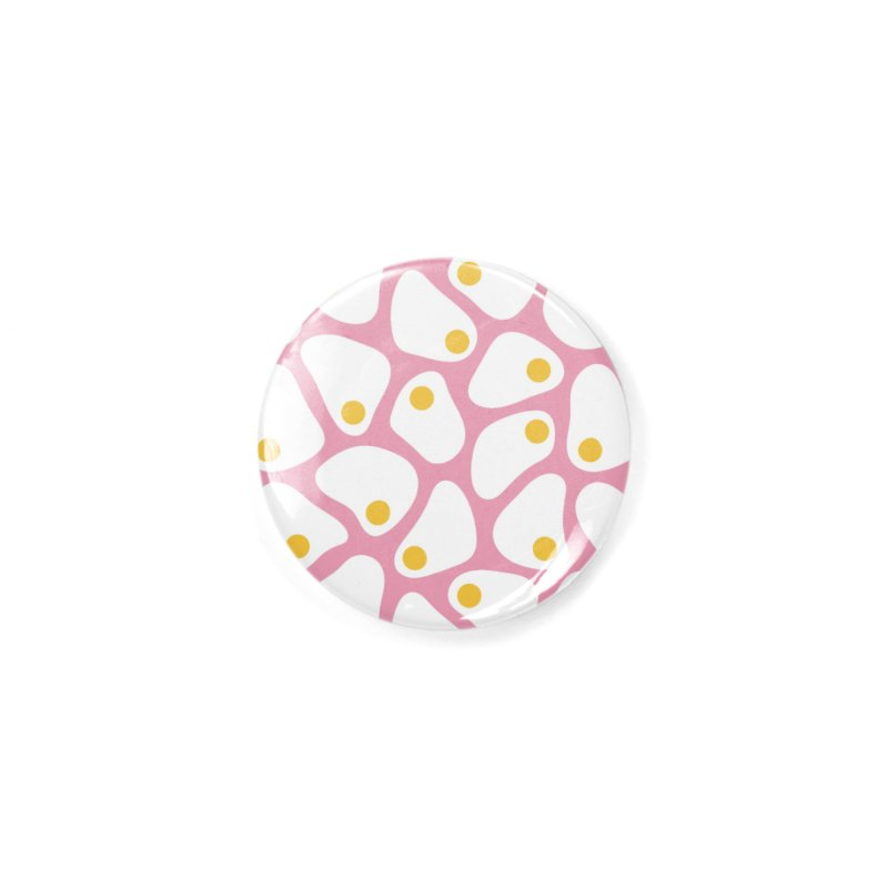 Fried Egg Pattern Accessories Button by abstractocreate's Artist Shop