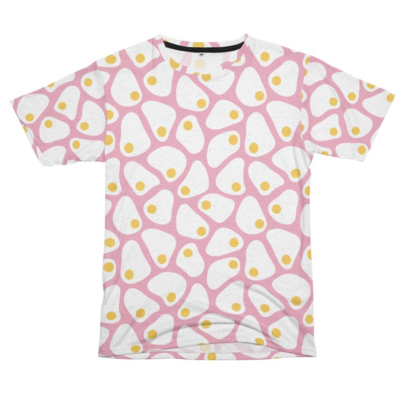 Fried Egg Pattern Women's Unisex French Terry T-Shirt Cut & Sew by abstractocreate's Artist Shop