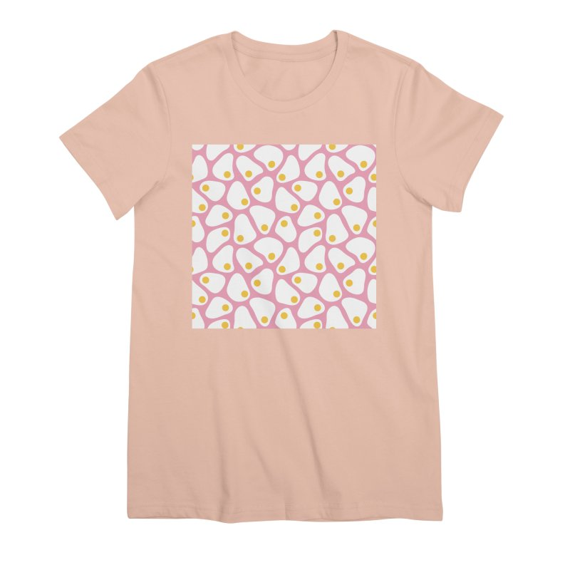 Fried Egg Pattern Women's Premium T-Shirt by abstractocreate's Artist Shop