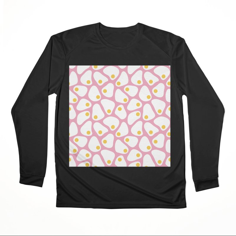 Fried Egg Pattern Men's Performance Longsleeve T-Shirt by abstractocreate's Artist Shop