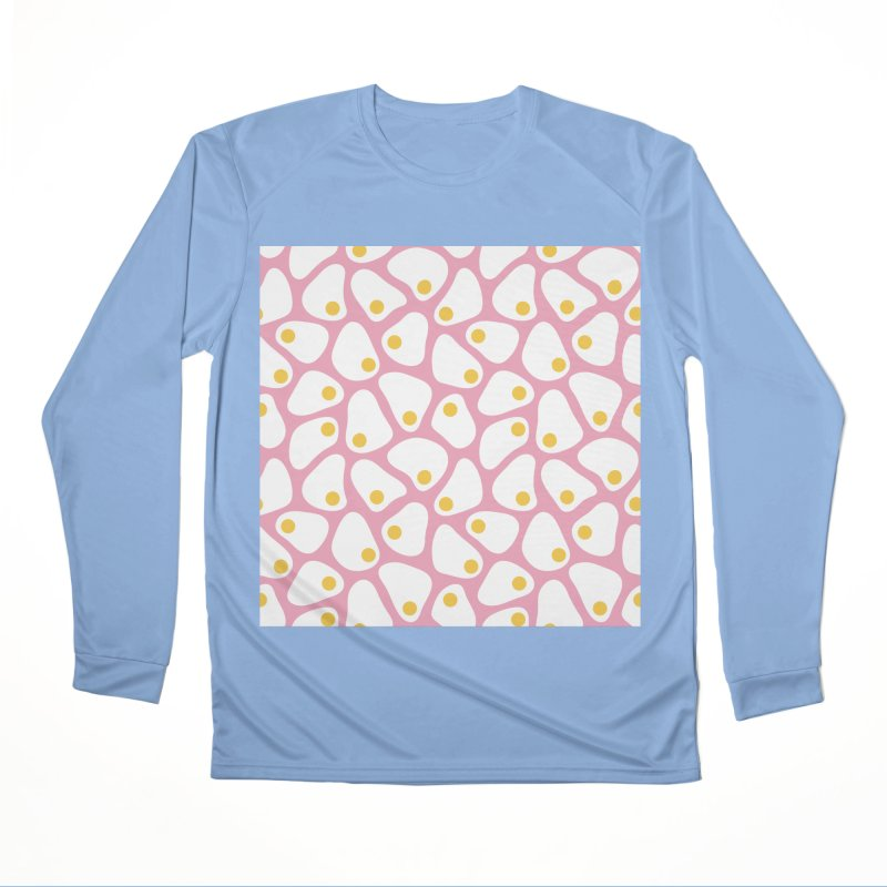 Fried Egg Pattern Women's Performance Unisex Longsleeve T-Shirt by abstractocreate's Artist Shop
