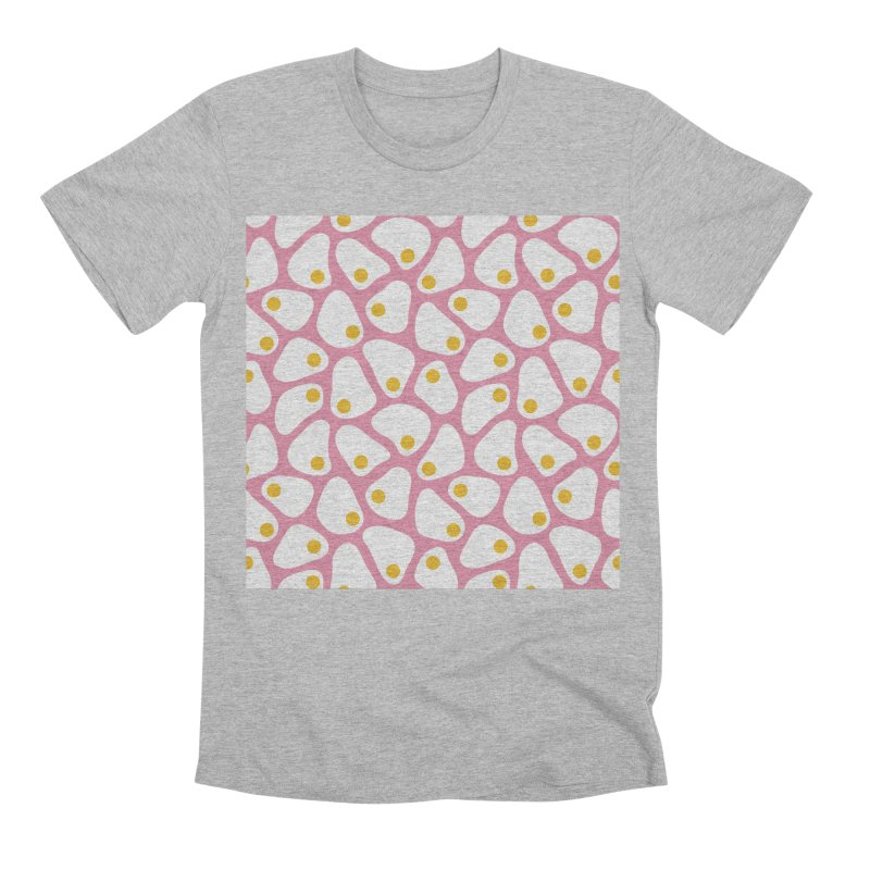 Fried Egg Pattern Men's T-Shirt by abstractocreate's Artist Shop