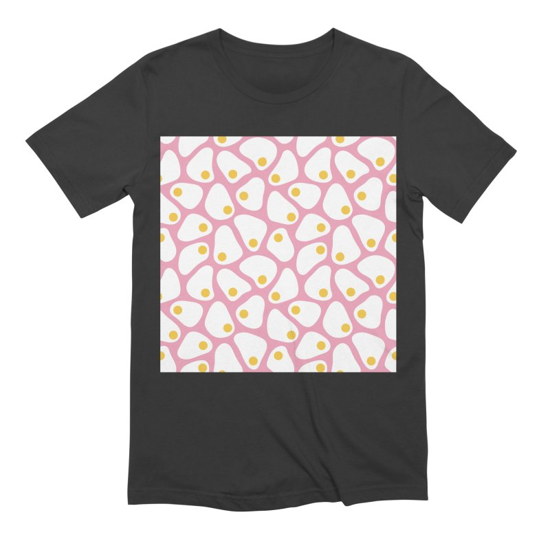 Fried Egg Pattern Men's Extra Soft T-Shirt by abstractocreate's Artist Shop
