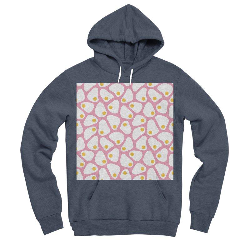 Fried Egg Pattern Men's Sponge Fleece Pullover Hoody by abstractocreate's Artist Shop