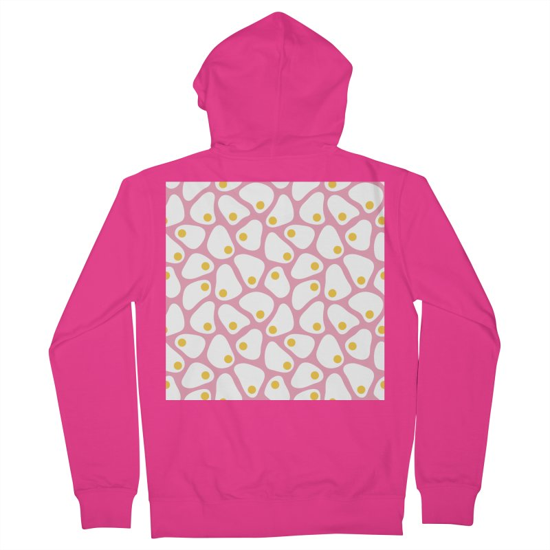 Fried Egg Pattern Men's French Terry Zip-Up Hoody by abstractocreate's Artist Shop