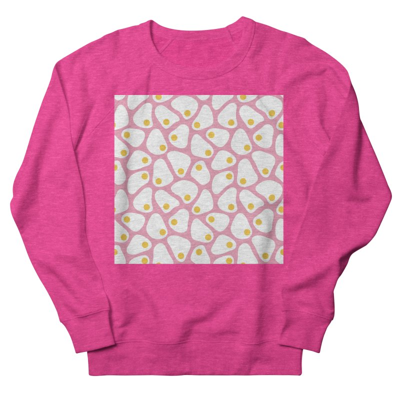 Fried Egg Pattern Women's French Terry Sweatshirt by abstractocreate's Artist Shop