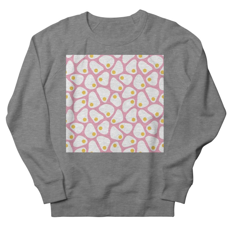 Fried Egg Pattern Men's French Terry Sweatshirt by abstractocreate's Artist Shop