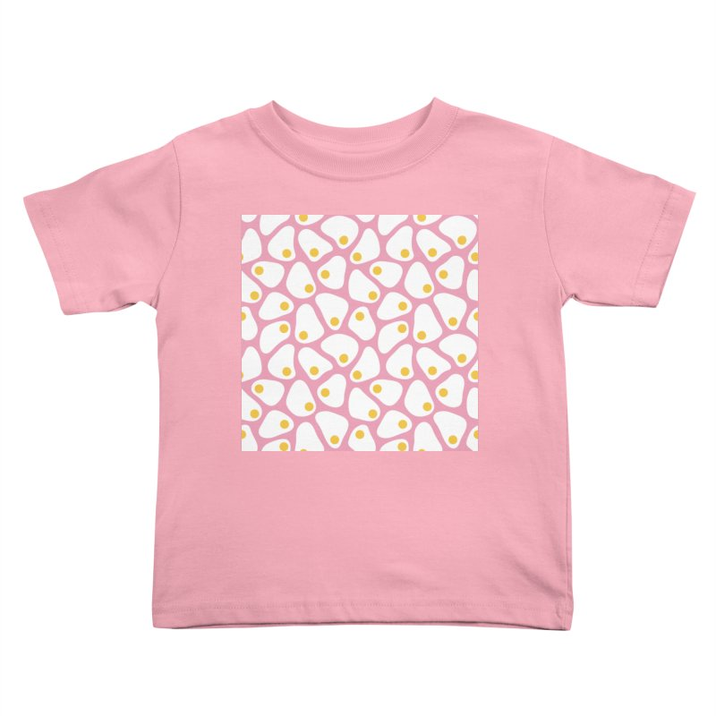 Fried Egg Pattern Kids Toddler T-Shirt by abstractocreate's Artist Shop