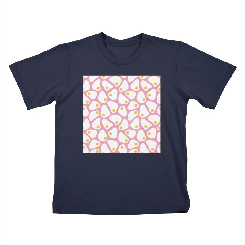 Fried Egg Pattern Kids T-Shirt by abstractocreate's Artist Shop