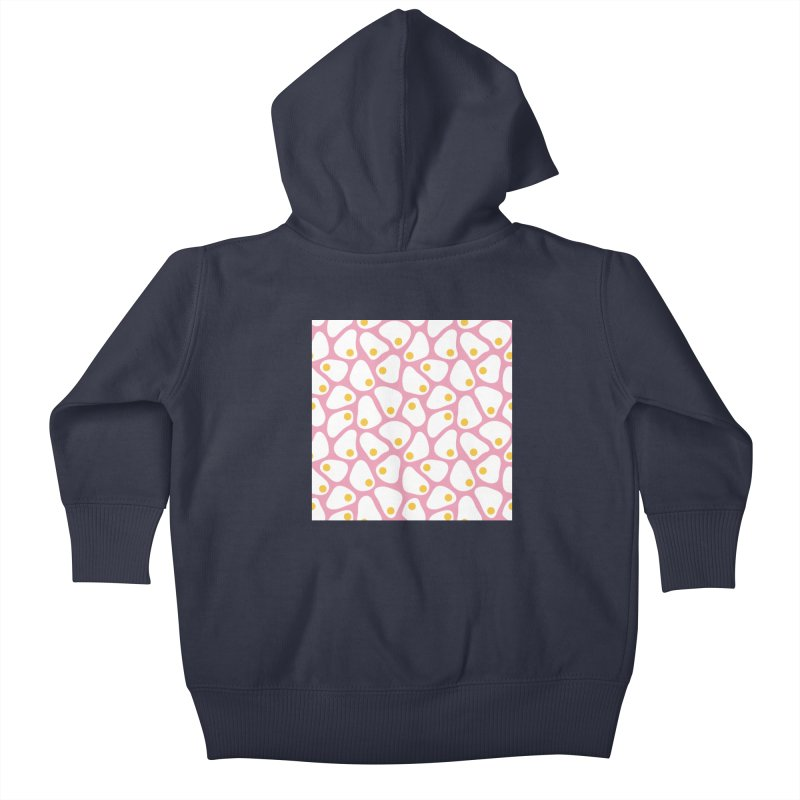 Fried Egg Pattern Kids Baby Zip-Up Hoody by abstractocreate's Artist Shop