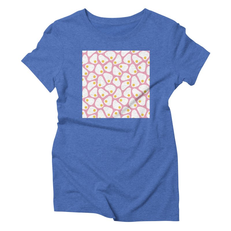 Fried Egg Pattern Women's Triblend T-Shirt by abstractocreate's Artist Shop