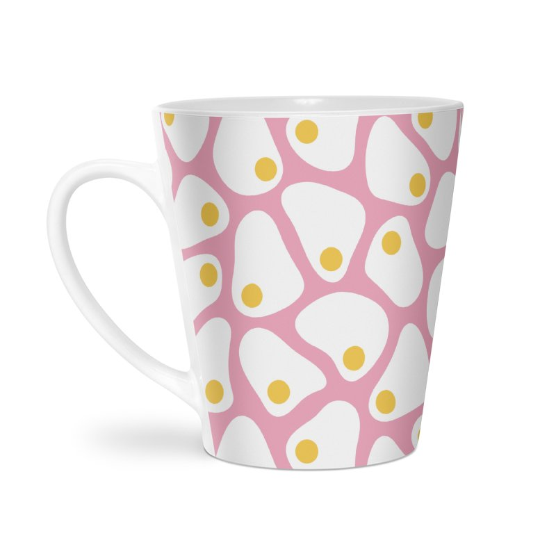 Fried Egg Pattern Accessories Latte Mug by abstractocreate's Artist Shop