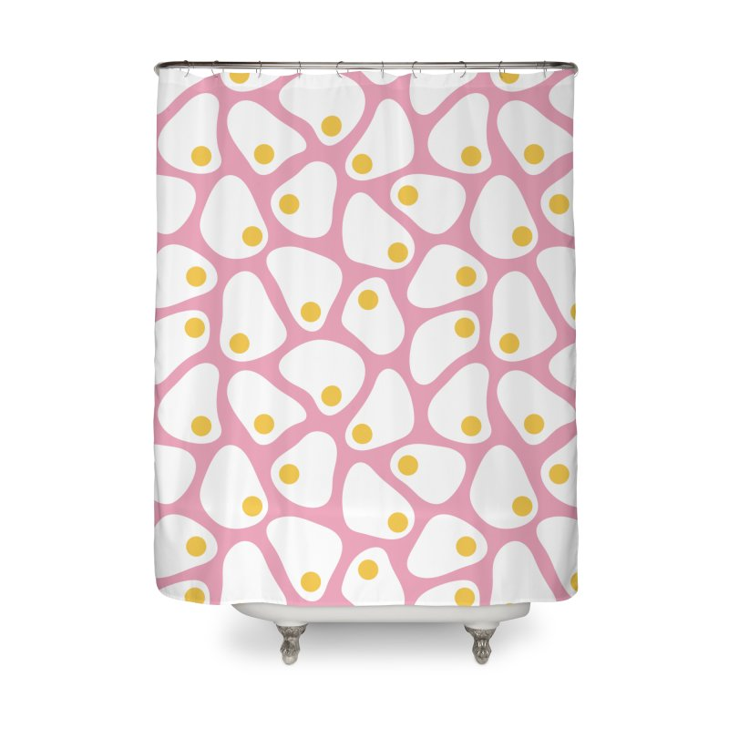 Fried Egg Pattern Home Shower Curtain by abstractocreate's Artist Shop