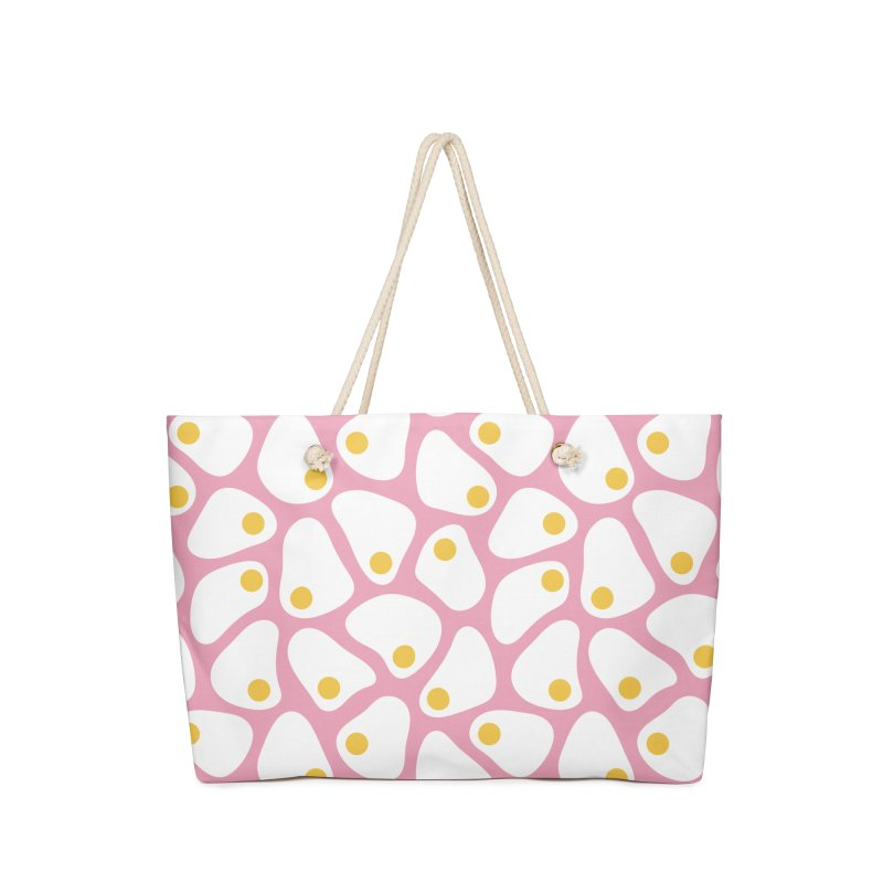 Fried Egg Pattern Accessories Bag by abstractocreate's Artist Shop