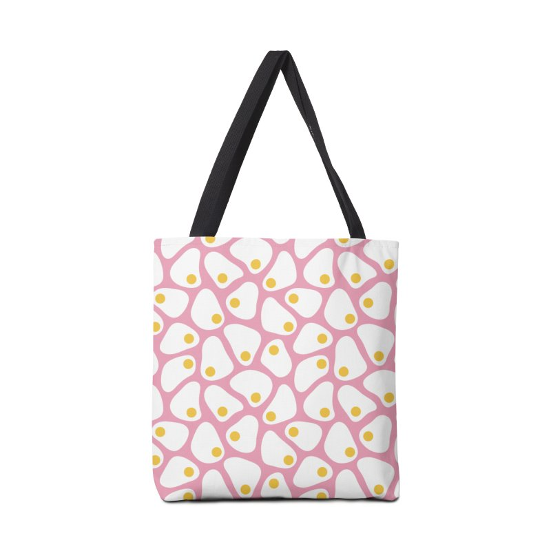 Fried Egg Pattern Accessories Tote Bag Bag by abstractocreate's Artist Shop