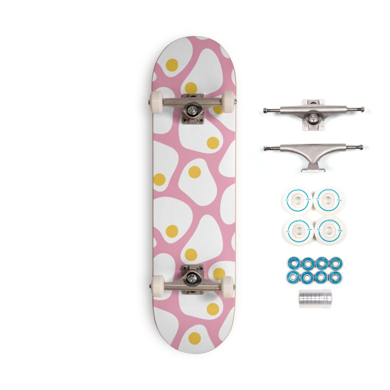 Fried Egg Pattern Accessories Complete - Basic Skateboard by abstractocreate's Artist Shop