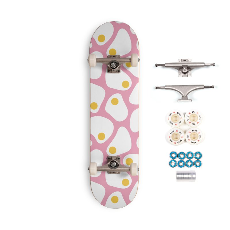 Fried Egg Pattern Accessories Complete - Premium Skateboard by abstractocreate's Artist Shop