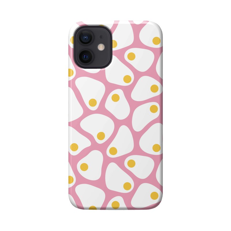 Fried Egg Pattern Accessories Phone Case by abstractocreate's Artist Shop
