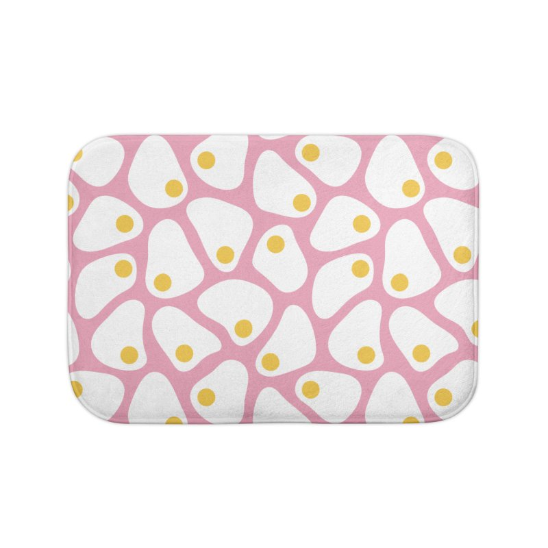 Fried Egg Pattern Home Bath Mat by abstractocreate's Artist Shop