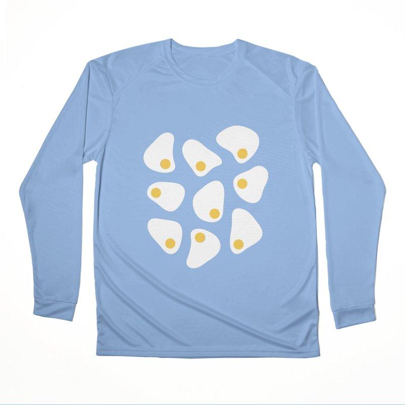Fried Egg Pattern Women's Longsleeve T-Shirt by abstractocreate's Artist Shop