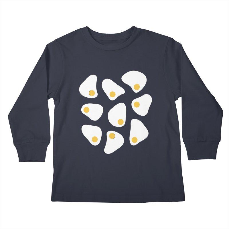 Fried Egg Pattern Kids Longsleeve T-Shirt by abstractocreate's Artist Shop
