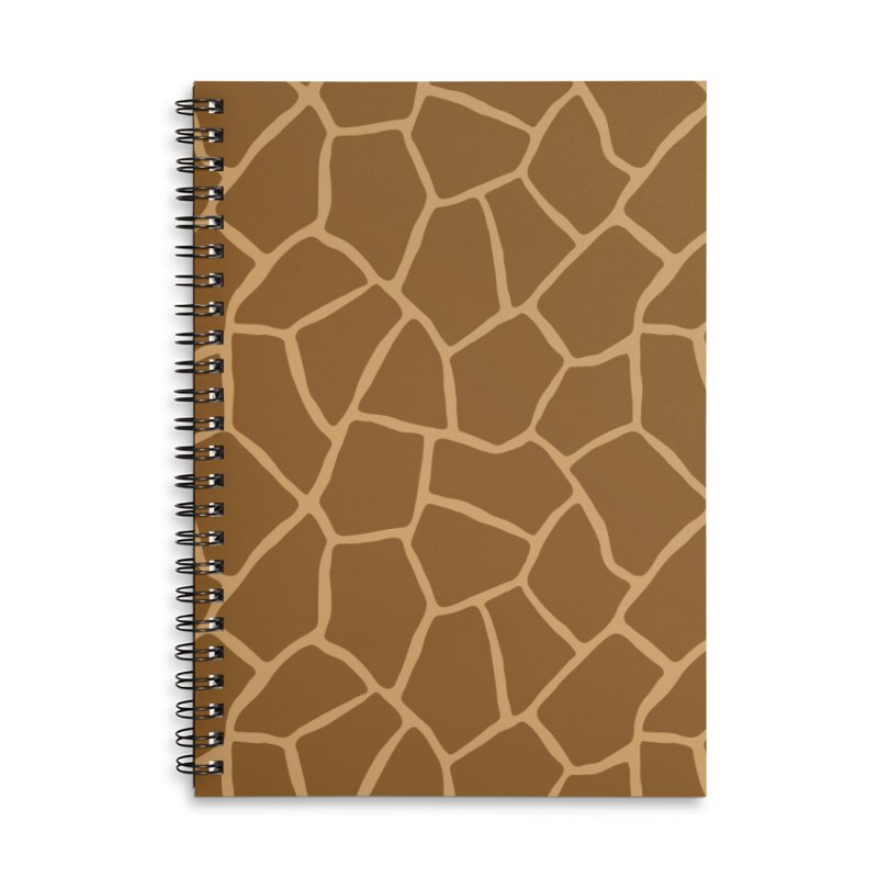 Giraffe Animal Print Accessories Notebook by abstractocreate's Artist Shop
