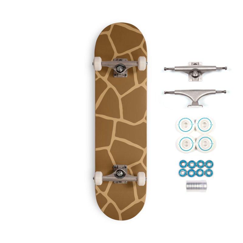 Giraffe Animal Print Accessories Skateboard by abstractocreate's Artist Shop