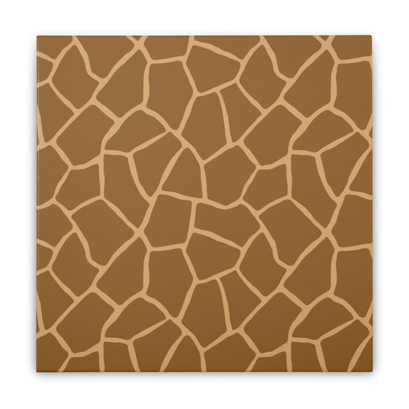 Giraffe Animal Print Home Stretched Canvas by abstractocreate's Artist Shop