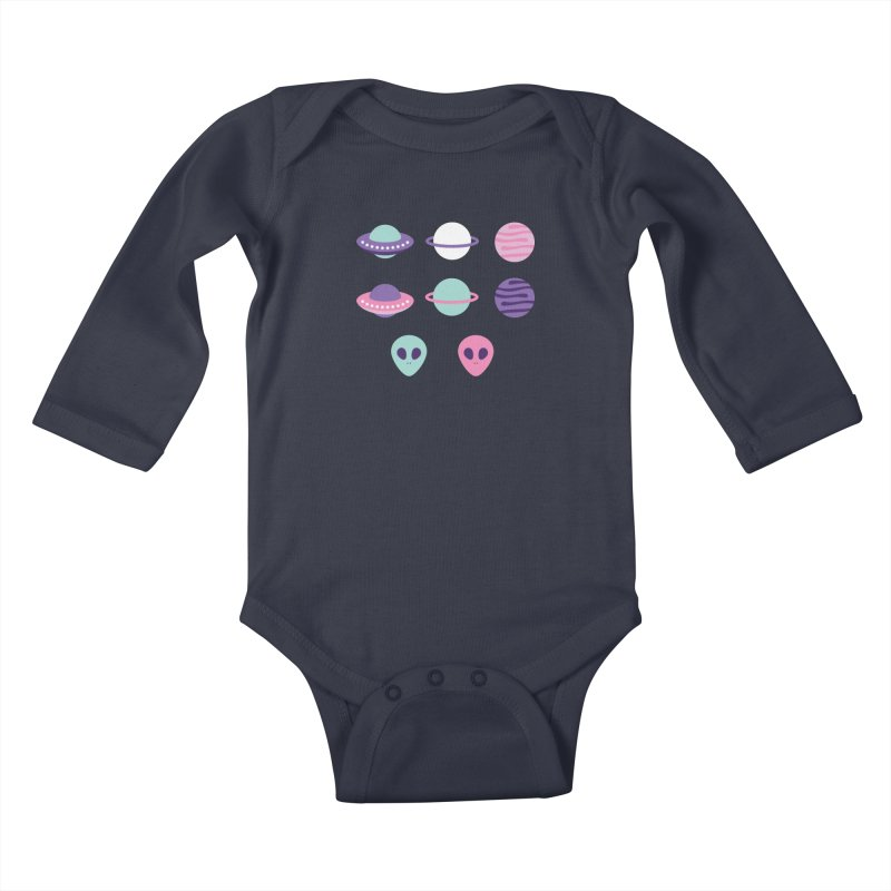 UFO & Planets Patterns Kids Baby Longsleeve Bodysuit by abstractocreate's Artist Shop