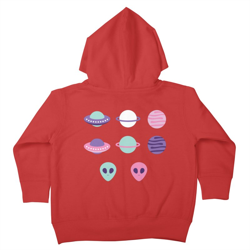 UFO & Planets Patterns Kids Toddler Zip-Up Hoody by abstractocreate's Artist Shop