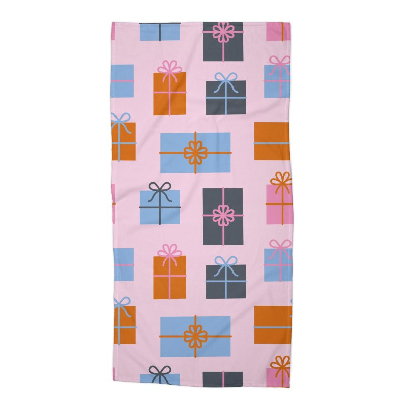 Christmas Gifts Pattern Accessories Beach Towel by abstractocreate's Artist Shop
