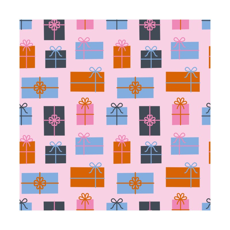 Christmas Gifts Pattern Home Framed Fine Art Print by abstractocreate's Artist Shop