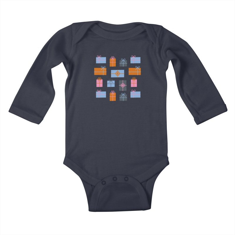 Christmas Gifts Pattern Kids Baby Longsleeve Bodysuit by abstractocreate's Artist Shop