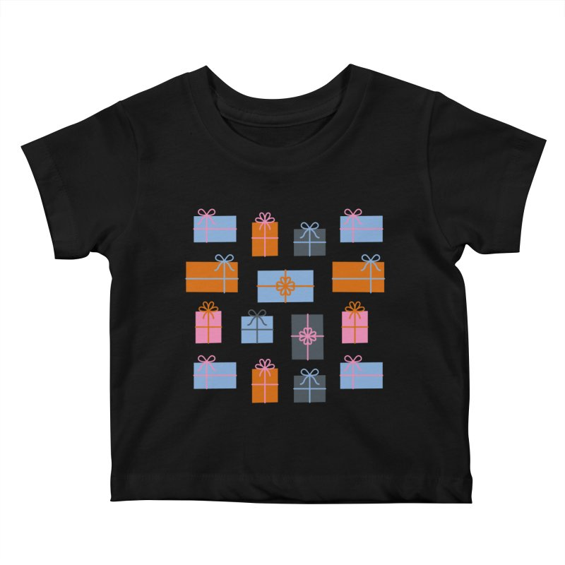 Christmas Gifts Pattern Kids Baby T-Shirt by abstractocreate's Artist Shop