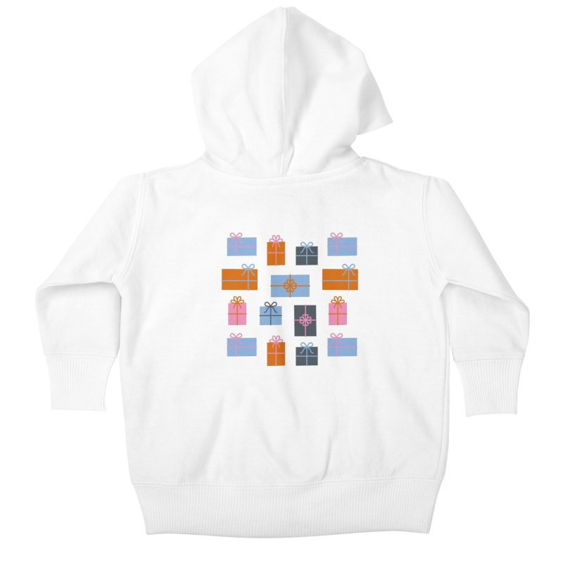 Christmas Gifts Pattern Kids Baby Zip-Up Hoody by abstractocreate's Artist Shop