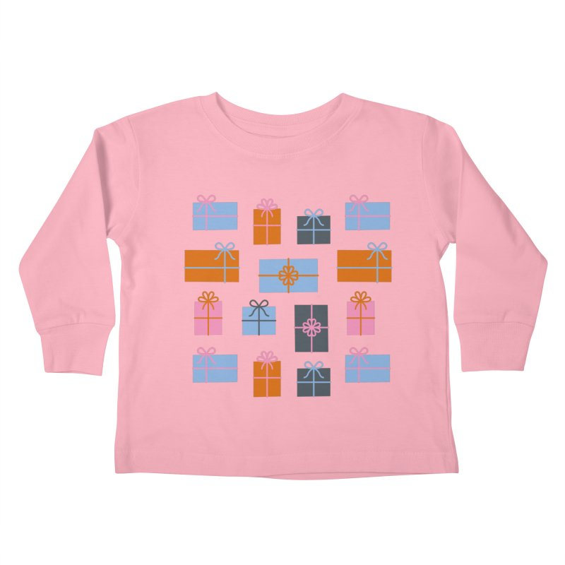 Christmas Gifts Pattern Kids Toddler Longsleeve T-Shirt by abstractocreate's Artist Shop