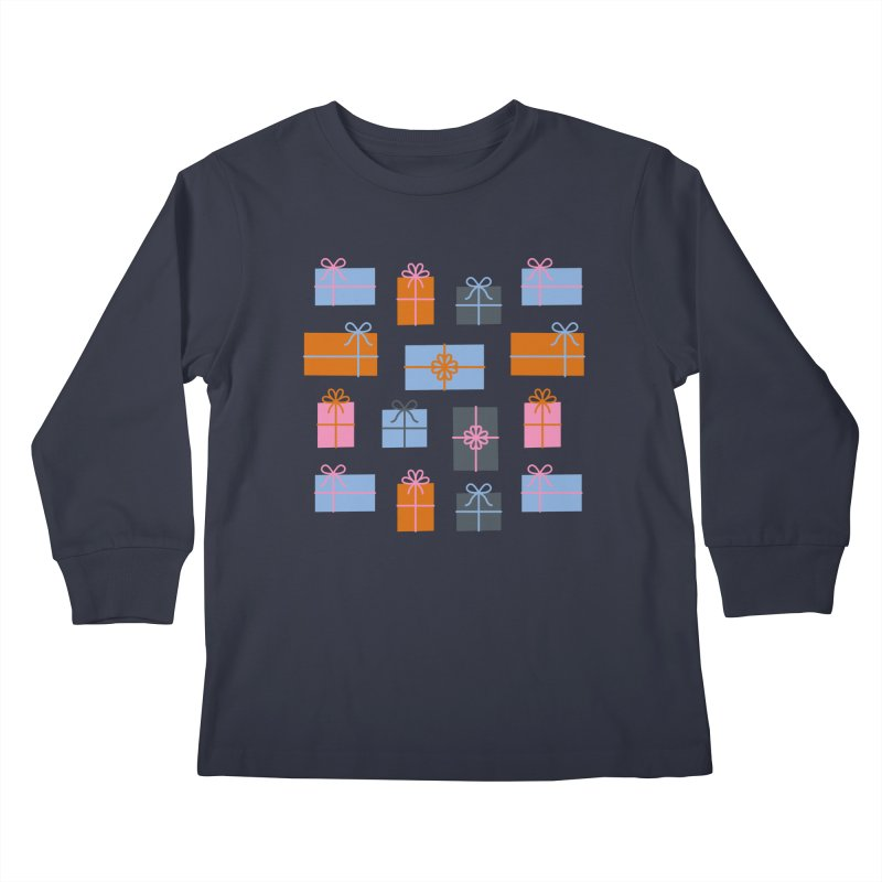 Christmas Gifts Pattern Kids Longsleeve T-Shirt by abstractocreate's Artist Shop