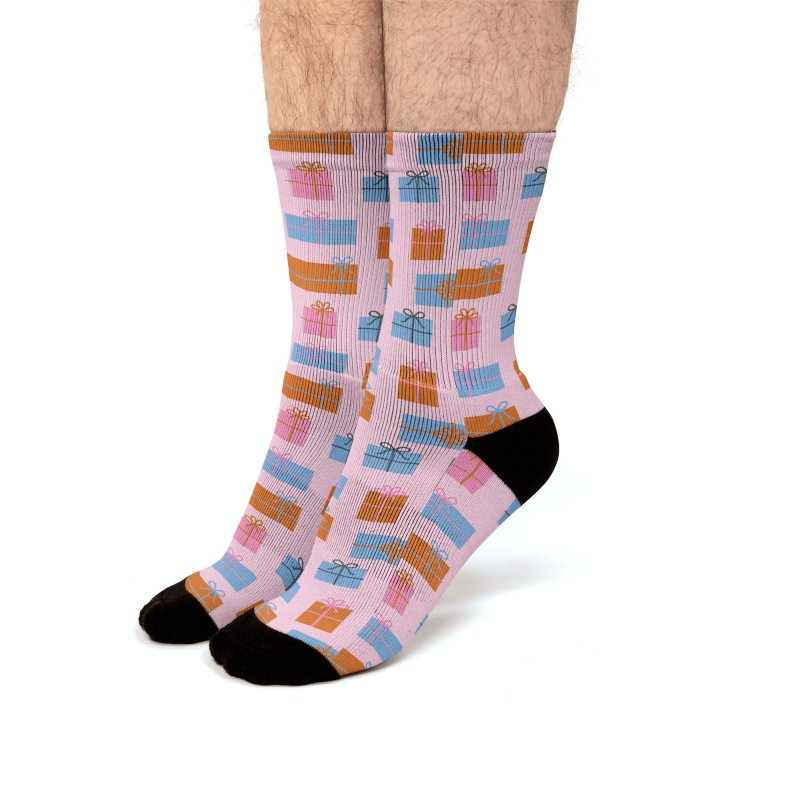 Christmas Gifts Pattern Men's Socks by abstractocreate's Artist Shop