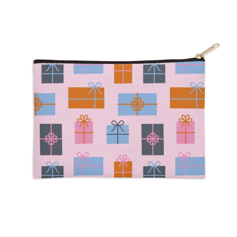 Christmas Gifts Pattern Accessories Zip Pouch by abstractocreate's Artist Shop