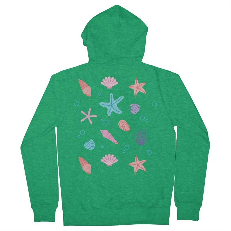 Sea Pattern Men's Zip-Up Hoody by abstractocreate's Artist Shop