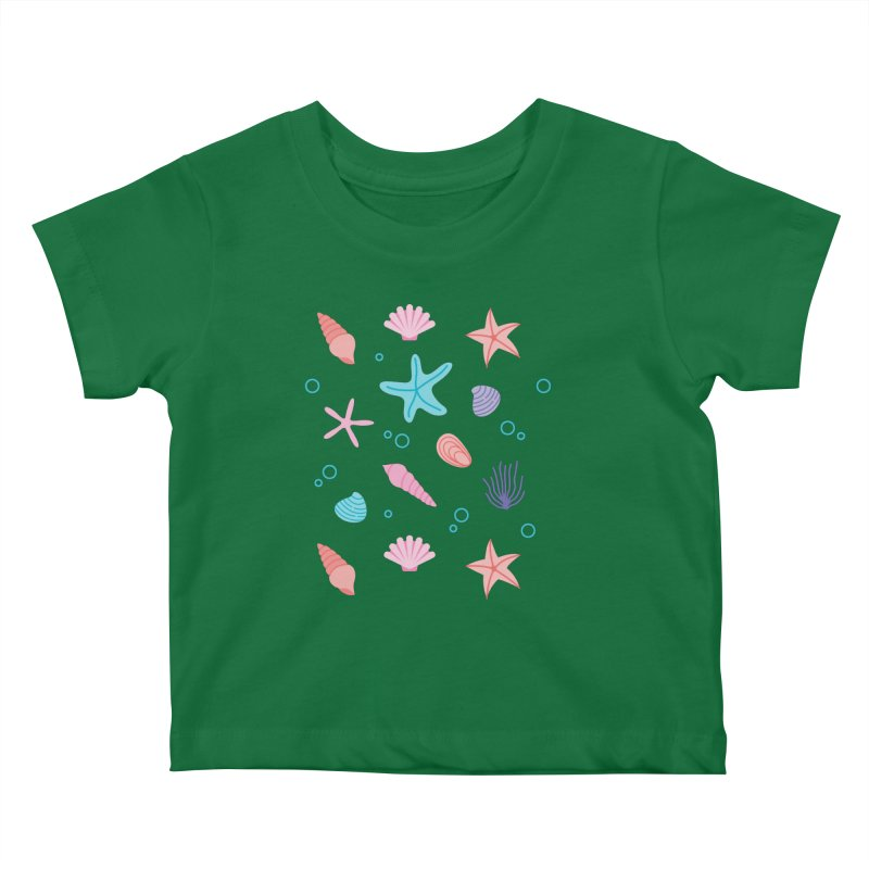 Sea Pattern Kids Baby T-Shirt by abstractocreate's Artist Shop