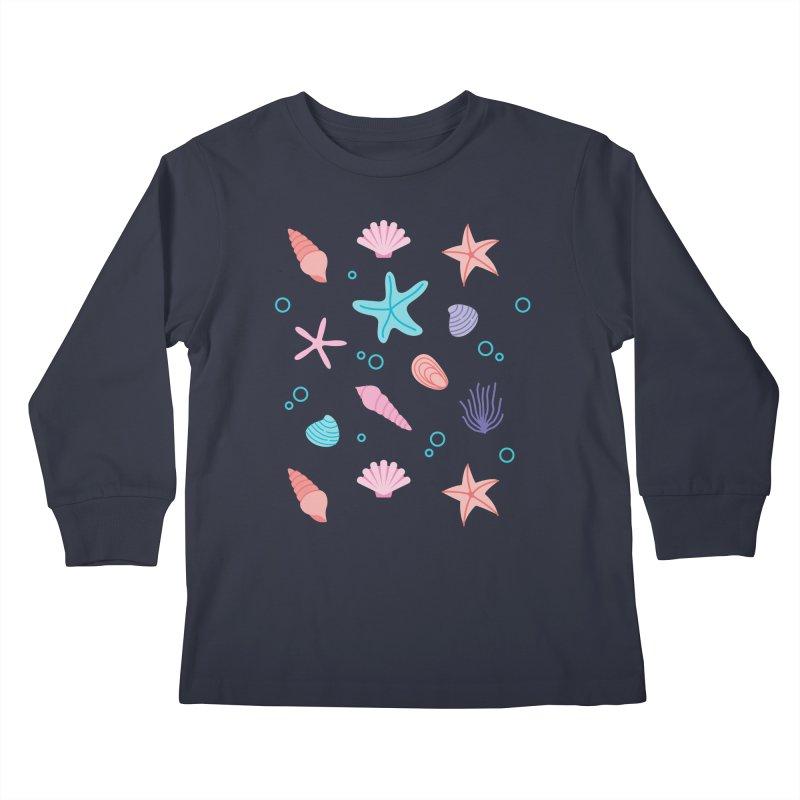 Sea Pattern Kids Longsleeve T-Shirt by abstractocreate's Artist Shop
