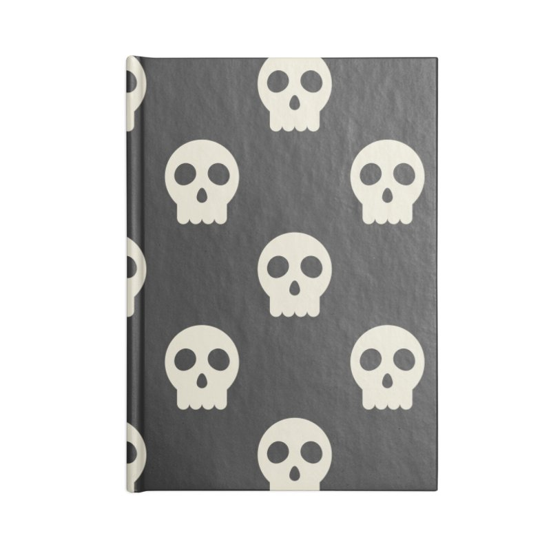 Skull Skeleton Pattern Accessories Lined Journal Notebook by abstractocreate's Artist Shop