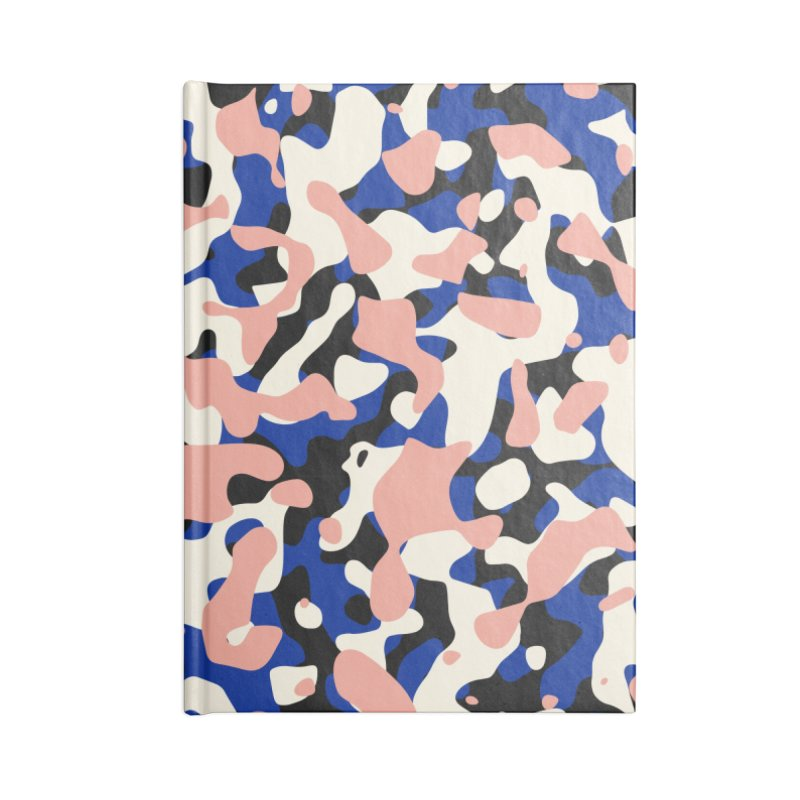 Retro Camouflage Accessories Lined Journal Notebook by abstractocreate's Artist Shop