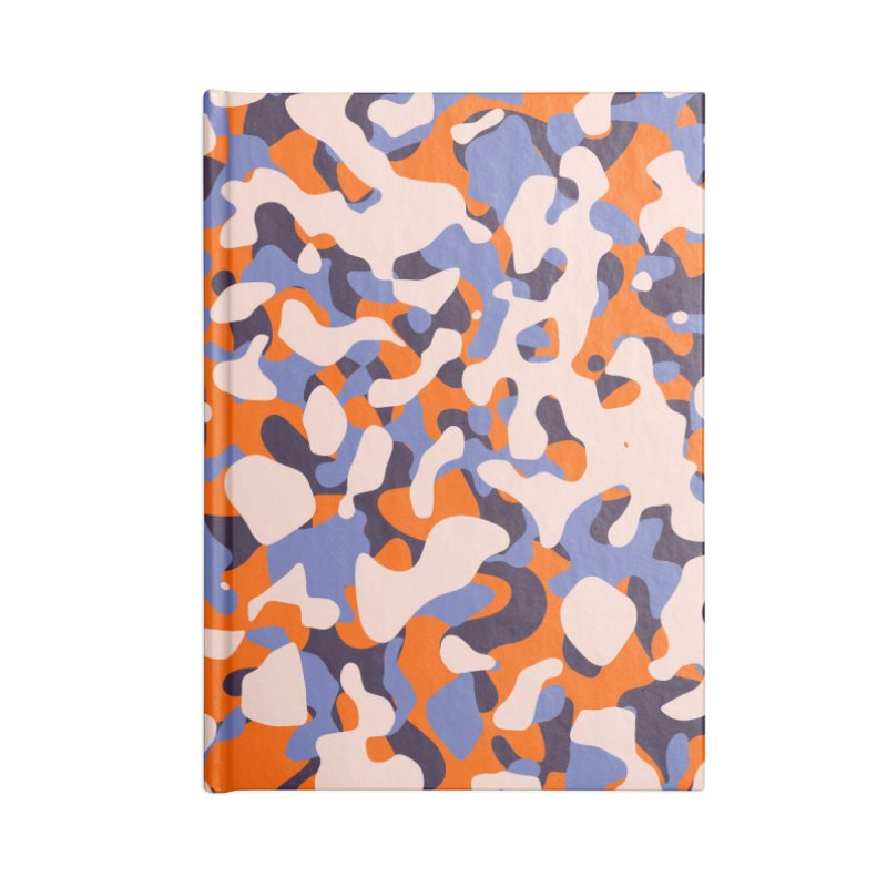 Peachy Camouflage Accessories Lined Journal Notebook by abstractocreate's Artist Shop